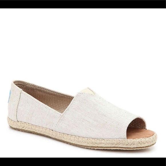 d05a5f827f9 TOMS Alpargata Peep Toe Espadrille Flats Size 7. M 5b9057fff4145226bd1b7db8